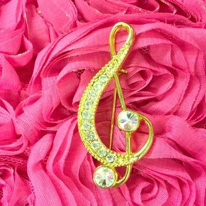 New musical note brooch pin